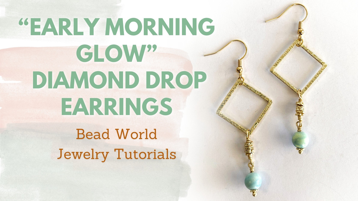"""""""Early Morning Glow"""" - Diamond Drop Earrings"""