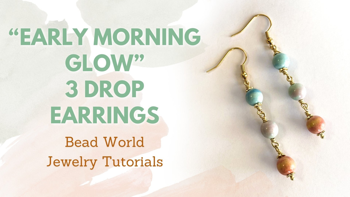 """""""Early Morning Glow"""" 3-Drop Earrings"""
