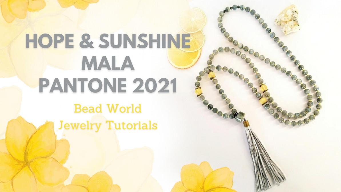 Hope & Sunshine Mala – Pantone 2021 Colors
