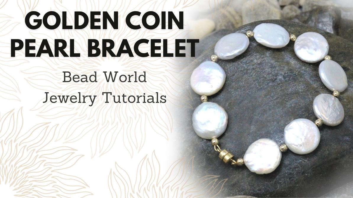Golden Coin Pearl Bracelet