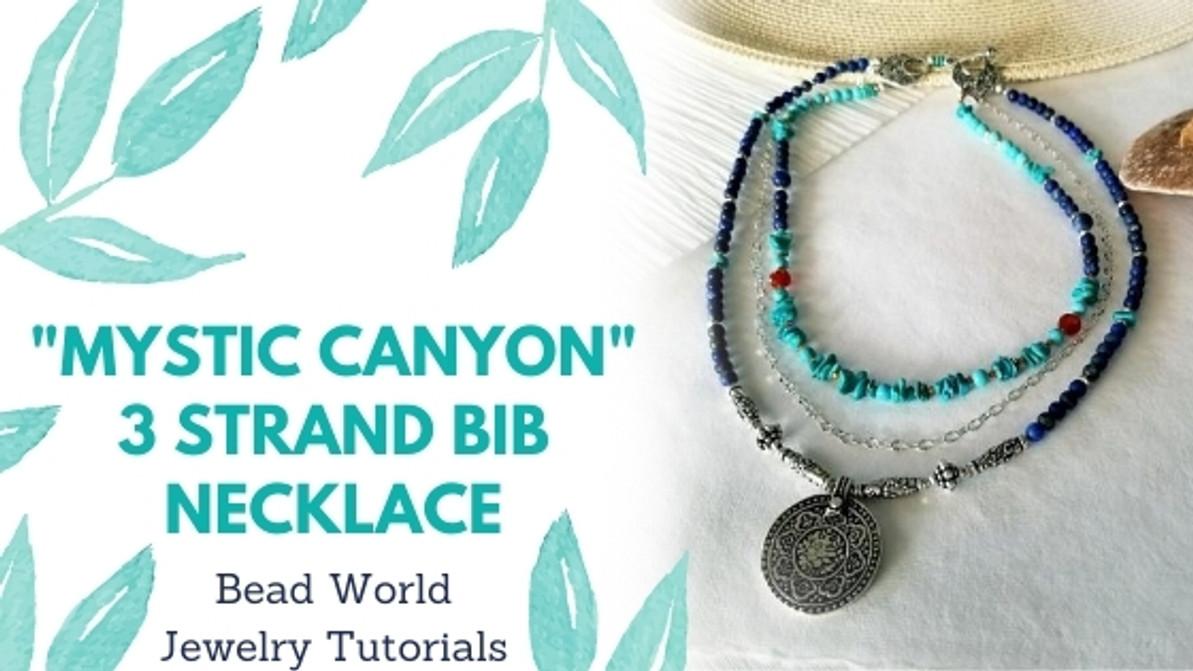 """Mystic Canyon"" - 3 Strand Bib Necklace"