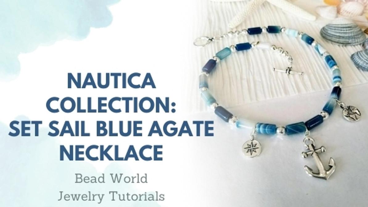 Nautica Collection – Set Sail Blue Agate Necklace