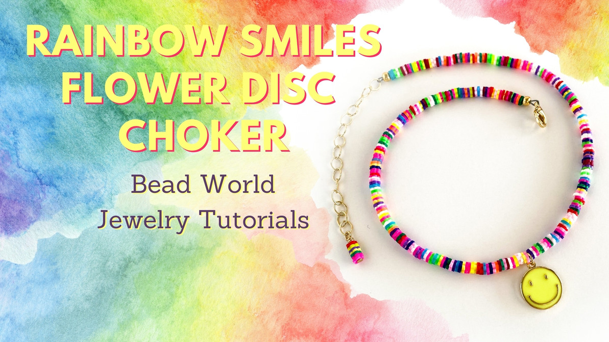 Rainbow Smiles Flower Disc Collection – Choker Necklace