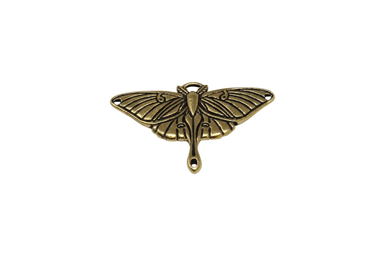 Green Aventurine Lunar Moth Pendant
