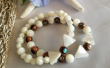 ​Set of Two Beachy Stretch Bracelets