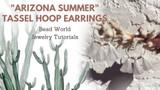 """""""Arizona Summer"""" Tassel Hoop Earrings"""