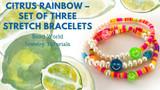 Citrus Rainbow – Set of Three Stretch Bracelets