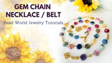 Magic Garden Jewel Tone Gem Chain Necklace/Belt