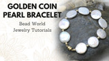 Golden Coin Pearl Bracelet