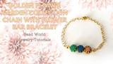 Golden Flower Garden – Chain with Flower Bar Bracelet