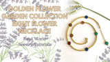 Golden Flower Garden Collection - Eight Flower Necklace