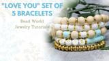 """""""Love You"""" Set of 5 Bracelets"""