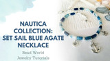 ​Nautica Collection – Set Sail Blue Agate Necklace