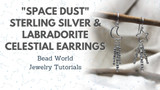 """Space Dust"" - Sterling Silver and Labradorite Celestial Earrings"