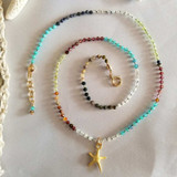 ​Delicate Dancing Star Knotted Gemstone Choker
