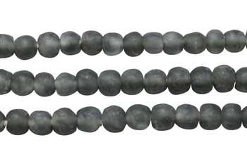 Recycled Glass 10-12mm Round - Dark Grey