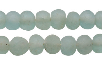 Recycled Glass 22-25mm Round - Seafoam