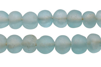 Recycled Glass 22-25mm Round - Aqua