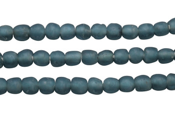 Recycled Glass 9-10mm Round - Teal