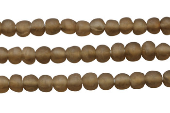 Recycled Glass 10-12mm Round - Tan