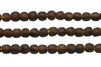 Recycled Glass 9-10mm Round - Brown