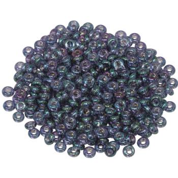 Size 6 Toho Demi Round Seed Beads -- Hydrangea / Gold Luster