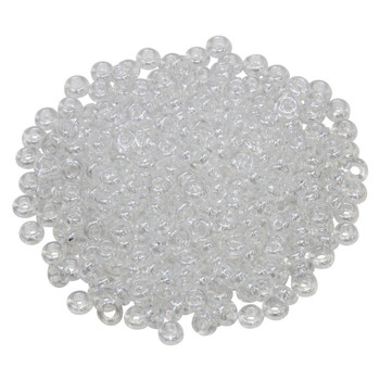 Size 6 Toho Demi Round Seed Beads -- Transparent Crystal Luster