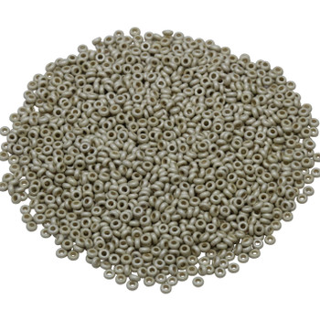 Size 11 Toho Demi Round Seed Beads -- Galvanized Aluminum Matte Permanent Finish