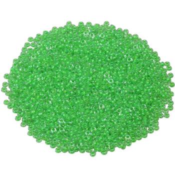 Size 11 Toho Demi Round Seed Beads -- Luminous Neon Green
