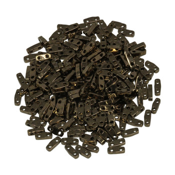 Quarter Tila Beads -- Metallic Bronze