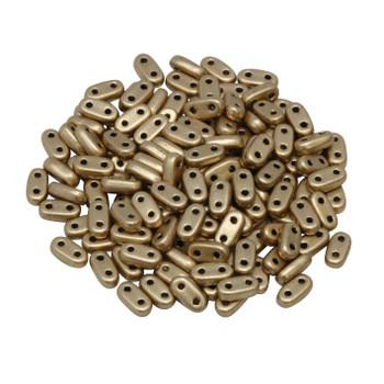CzechMates® 2 Hole Bar Beads -- Metallic Flax Matte