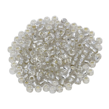 Size 7 Matubo Seed Beads -- Crystal / Silver Lined