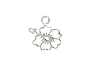 Hibiscus Flower - Sterling Silver