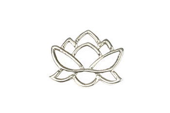 Lotus Pond Connector - Sterling Silver