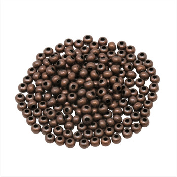 Size 8 Round Seed Beads -- Antique Copper Plated Brass