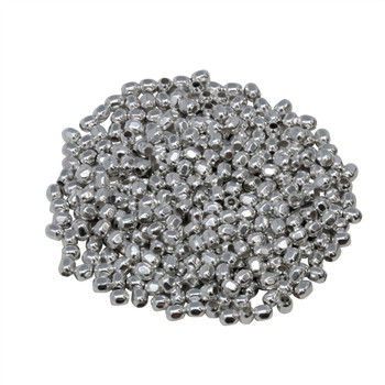 Size 11 Hex Seed Beads -- Silver Plated Brass