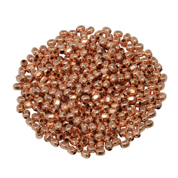 Size 11 Hex Seed Beads -- Copper Plated Brass