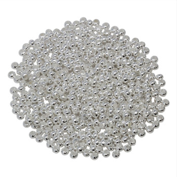 Size 11 Round Seed Beads -- Silver Plated Brass