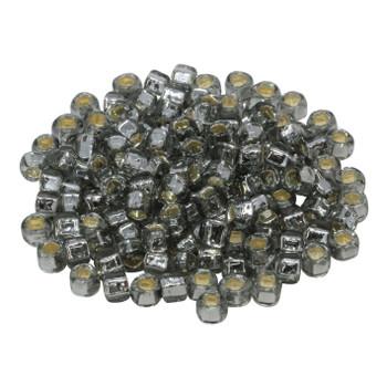 Size 3 Toho Seed Beads -- 21A Black Diamond / Silver Lined