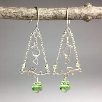 Leaf Connector - Sterling Silver