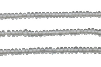 Ghana Glass Polished 6-7mm Spacer - Transparent Clear