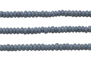 Ghana Glass Polished 6-7mm Spacer - Grey