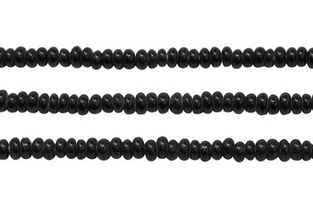 Ghana Glass Polished 6-7mm Spacer - Black