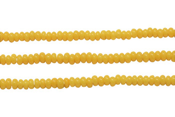 Ghana Glass Polished 6-7mm Spacer - Yellow