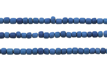Gooseberry Glass Matte 4-5mm Semi Round - Zircon Blue