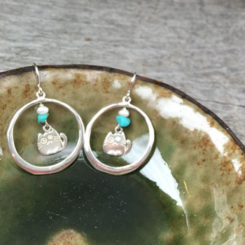 Large Organic Round - Sterling Silver