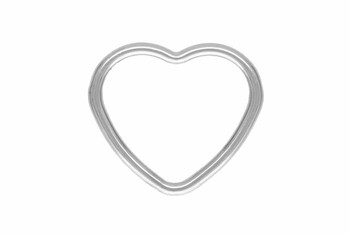 Mini Open Heart - Sterling Silver