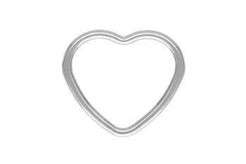 Mini Open Heart - Sterling Silver