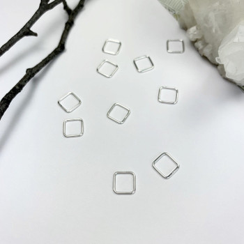Mini Open Diamond / Square - Sterling Silver