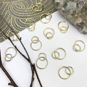 Large Double Loops 12-16mm - 14kt Gold Filled